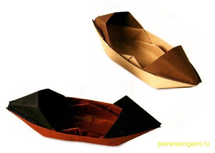 Надежная оригами лодка по схеме Jo Nakashima