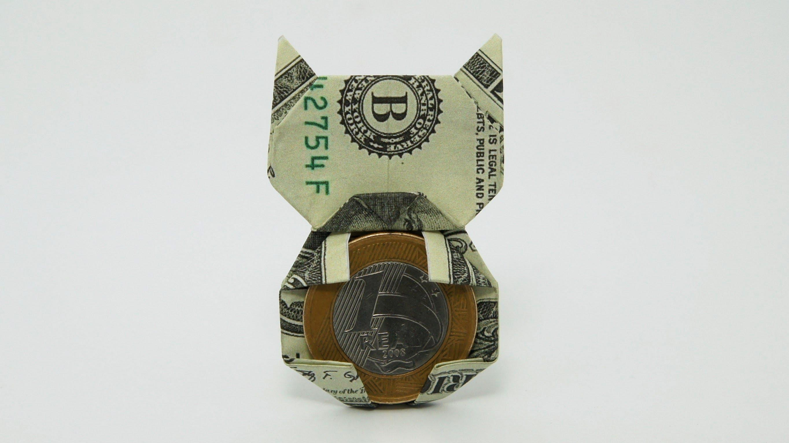 Оригами кошка от Jo Nakashima (видео схема)