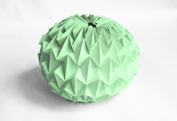 Как сделать волшебный шар оригами из бумаги?