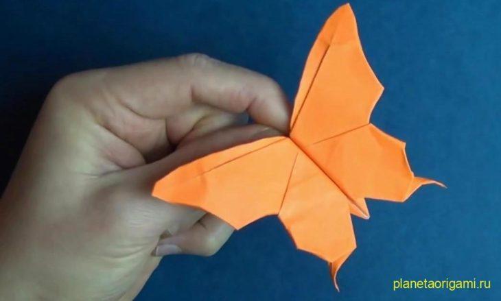Чудесная оригами бабочка