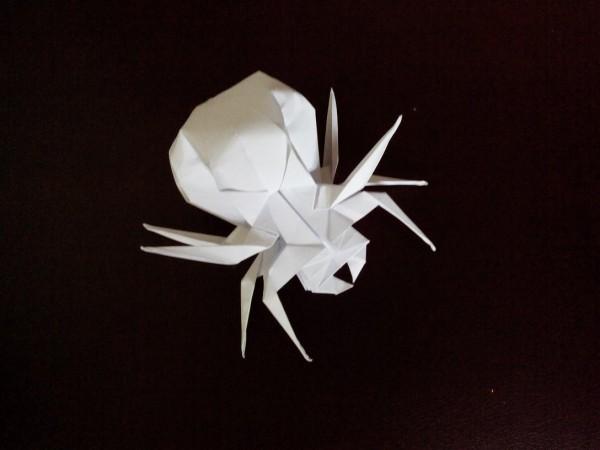 Реалистичный оригами паук