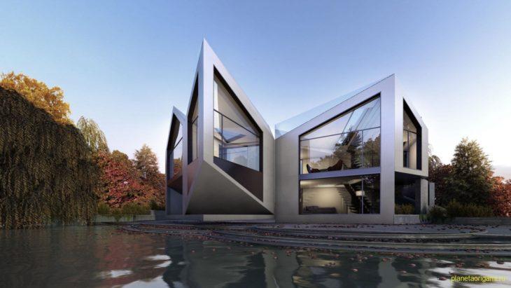 Дом D*Dynamic в стиле оригами