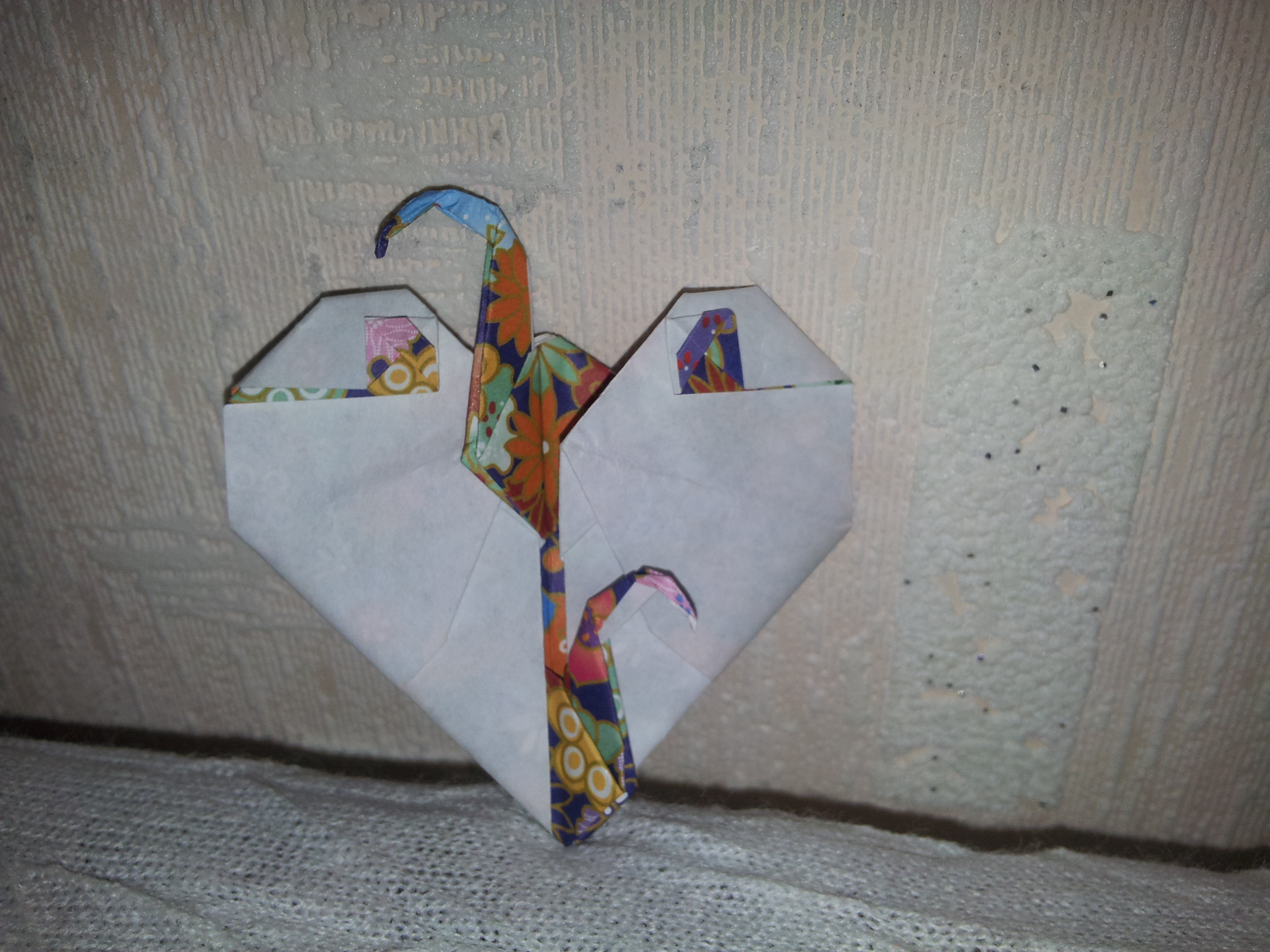 коробочка-сердце из бумаги схема