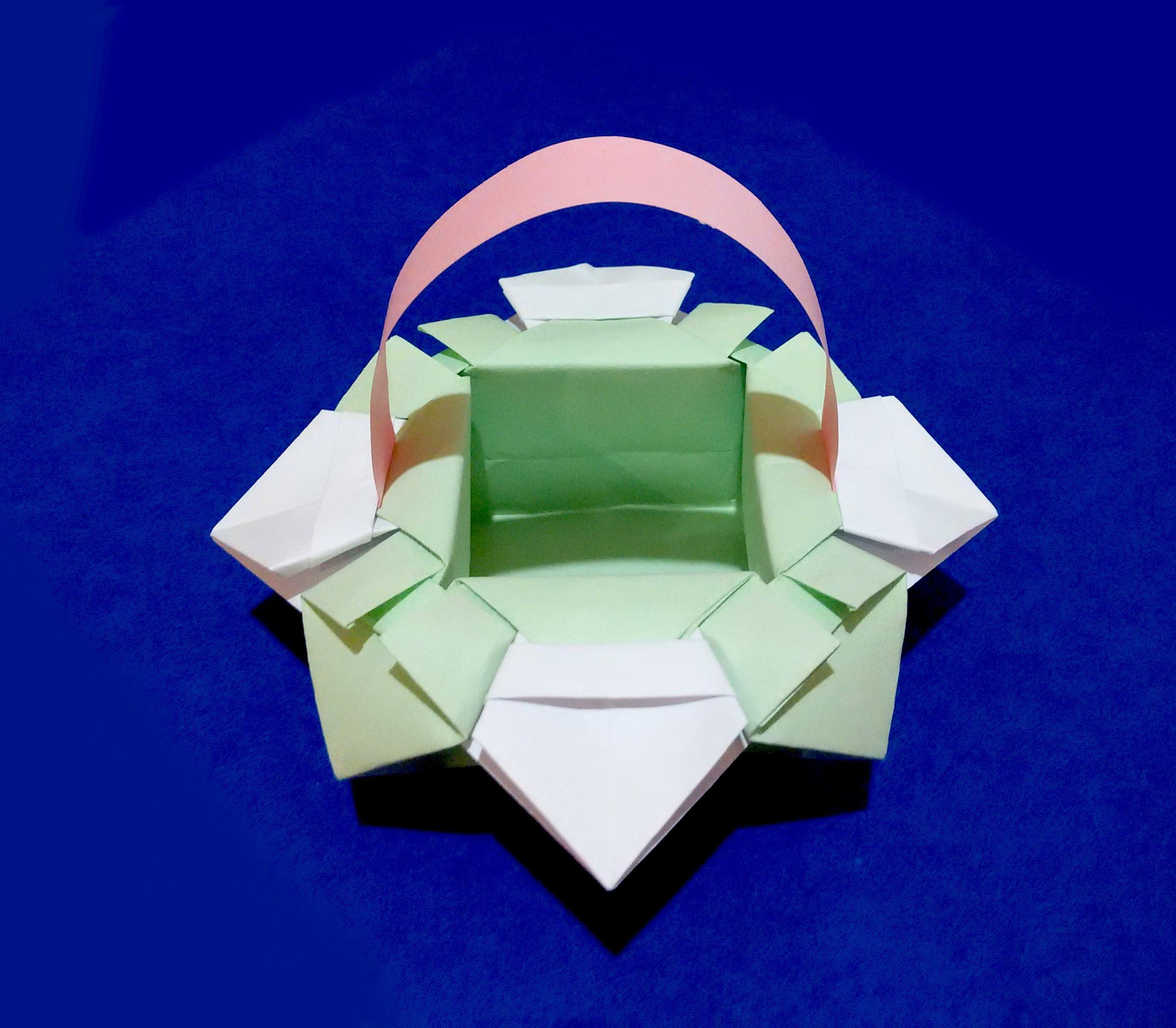 Корзинка для конфет оригами