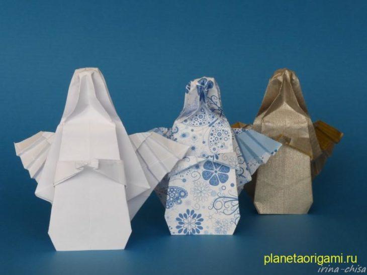 Рождественская фея оригами (дизайнер David Brill)