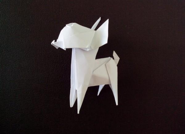 Модульное оригами собака видео