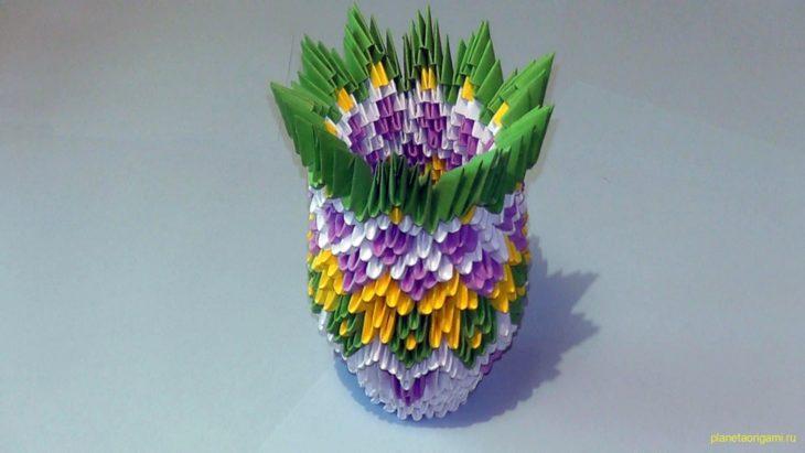 Модульное оригами: ваза схема сборки