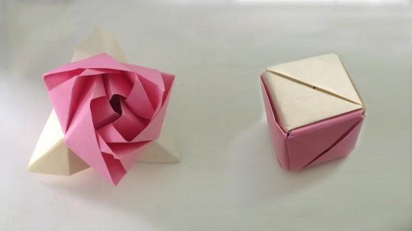 Оригами роза-трансформер