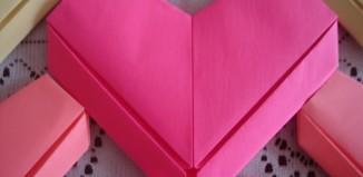Сердечко со стрелой из бумаги