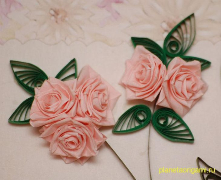 Роза в технике квиллинг