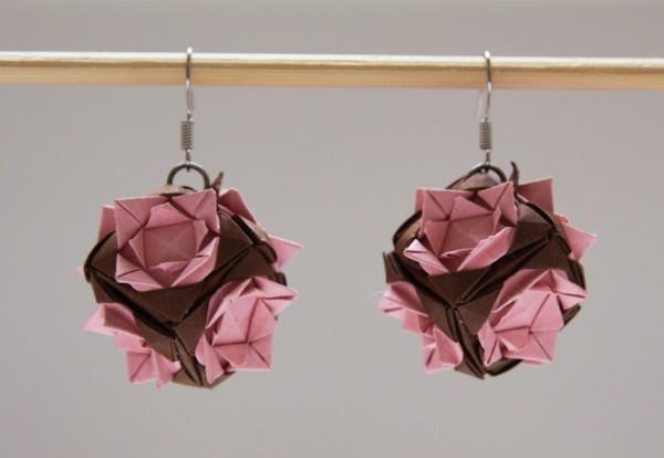 Японская капуста или сережки из бумаги