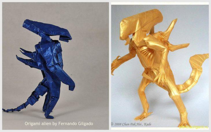 Оригами Zerg Hydralisk по схеме axcho: видео и схемы сборки