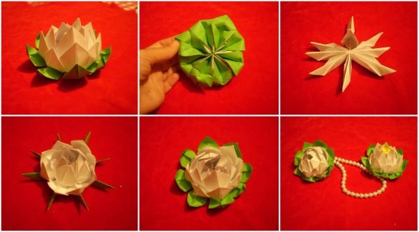 Цветок лотоса оригами схема