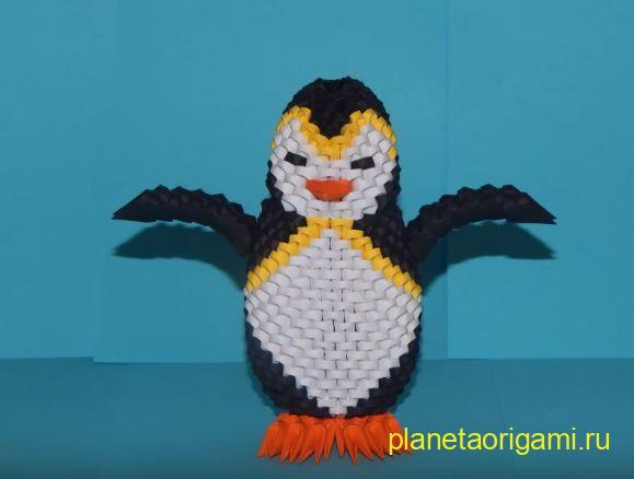 Пингвин из модулей по схеме