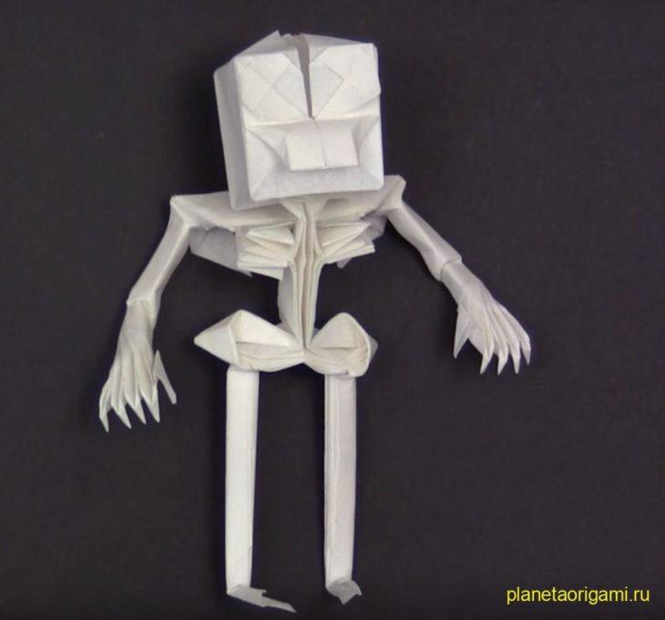 Оригами скелет по схеме Ходзё Такаши (Hojyo Takashi)