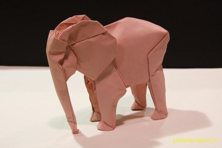 Слон оригами, пошаговая схема сборки