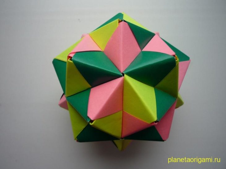 Схема сборки объемного оригами фото 246