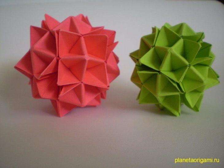 30-гранный шар-кусудама по схеме Девида Бриля