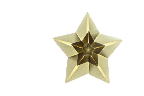 Оригами сияющая звезда по схеме Hoang Tien Quyet