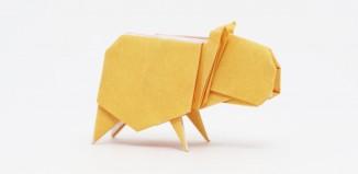 Оригами капибара по схеме Джо Накашима (Jo Nakashima)