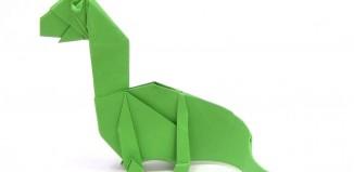 Оригами динозаврик диплодок по схеме Фернандо Гельгадо (Fernando Gilgado)