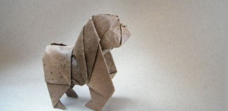 Оригами горилла по схеме Джозефа Ву (Joseph Wu)