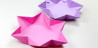Оригами шестиконечное блюдо в форме звезды