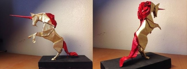 Единорог оригами