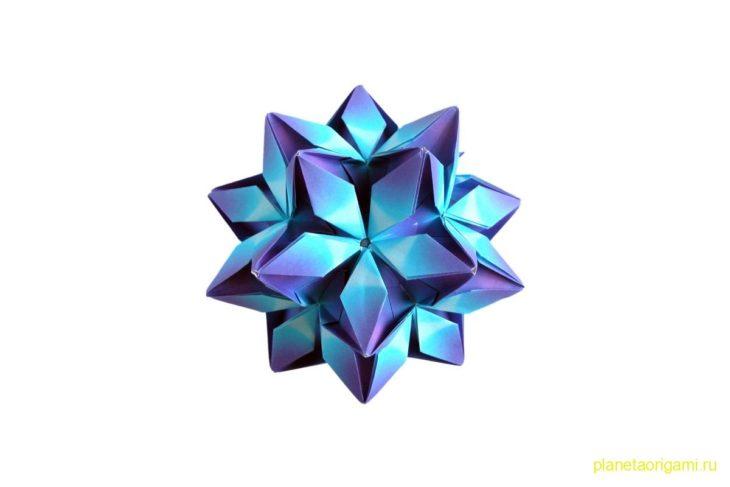 Оригами кусудама Rafaelita по схеме Екатерины Лукашевой (Ekaterina Lukasheva)