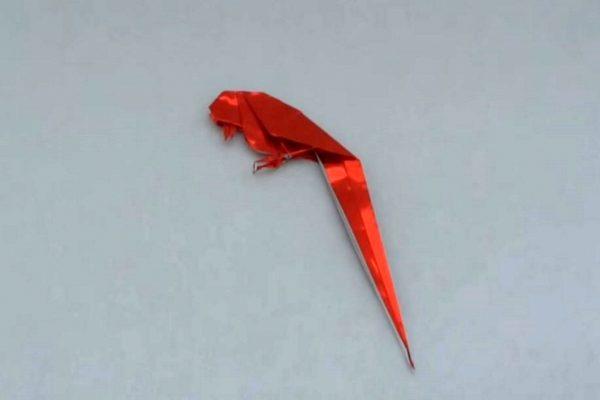 Оригами птица по схеме Айлин Эдвин (Aileen Edwin)