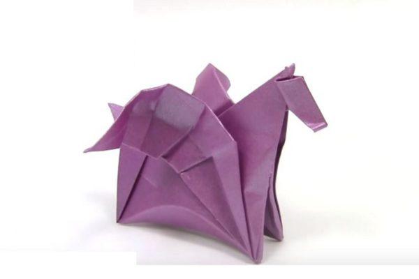 Оригами пегас по схеме Даниэля Наранхо (Daniel Naranjo)