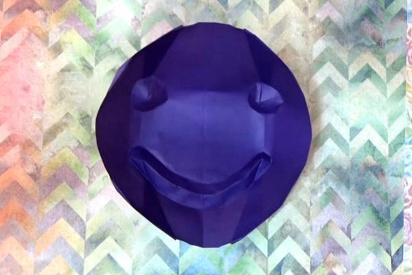 Оригами счастливое бумажное лицо по схеме Джереми Шейфера (Jeremy Shafer), видео