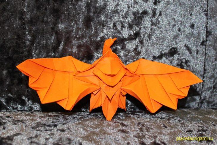 Оригами орел по схеме Генри Фама (Henry Pham)