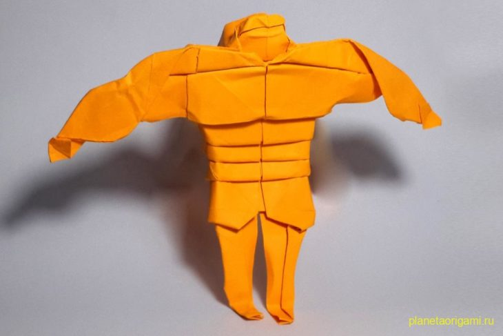 Оригами Халк по схеме Генри Фама (Henry Pham)