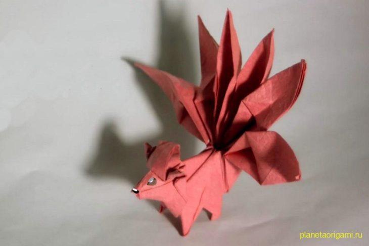 Оригами покемон Вульпикс по схеме Генри Фама (Henry Pham)
