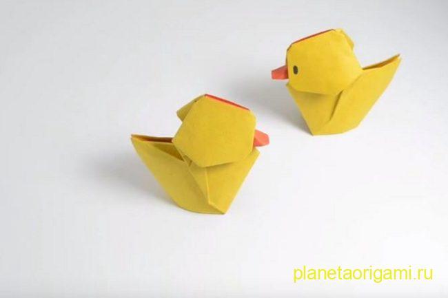 Оригами утята по схеме Хоанг Тьен Къет (Hoang Tien Quyet)