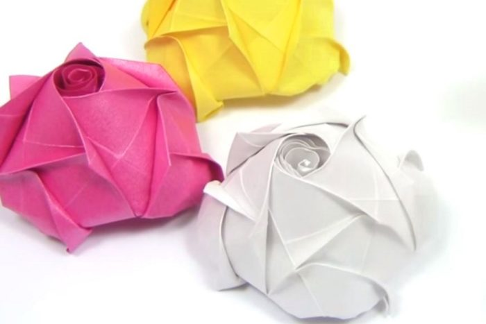Оригами вариация на тему розы Кавасаки