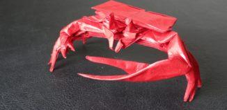 Оригами манящий краб по схеме Бриана Чена (Brian Chan)