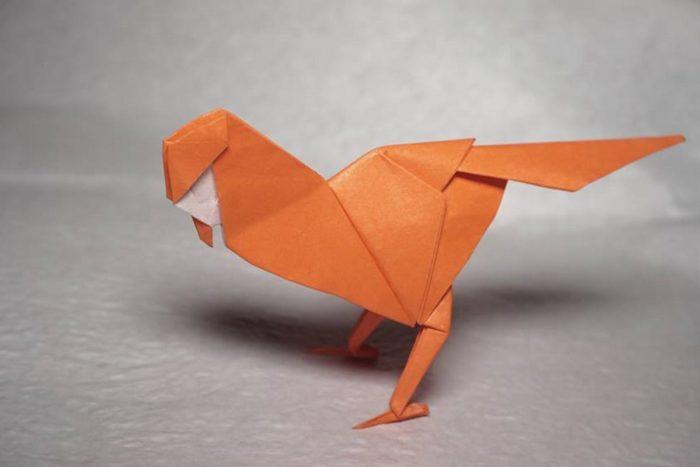 Оригами птичка по схеме Генри Фама (Henry Pham)