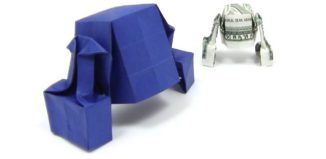 Оригами робот R2D2 по схеме Майкла Шеннона (Michael Shannon)