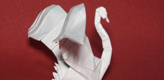 Оригами лебедь по схеме Генри Фама (Henry Pham)