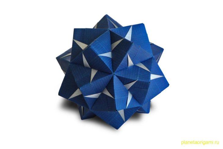 Оригами кусудама по схеме Марии Синайской