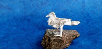 Оригами сидящая чайка по схеме Петера Штайна (Peter Stein)
