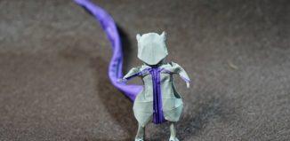 Оригами покемон Мьюту по схеме Генри Фама (Henry Pham)