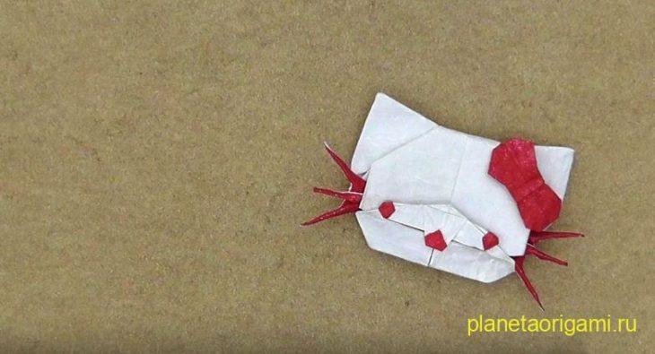Оригами кошка-милашка по схеме Марка Киршенбаума (Marc Kirschenbaum)