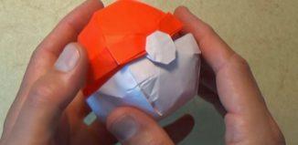 Оригами покебол по схеме Джереми Шейфера (Jeremy Shafer)