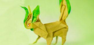 Оригами покемон Лифеон по схеме Генри Фама (Henry Pham)