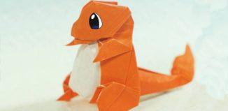 Оригами покемон Чармандер по схеме Герни Фама (Henry Pham)
