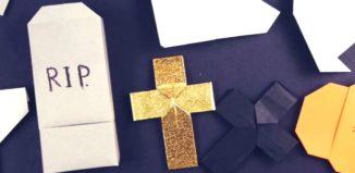 Простой оригами крест