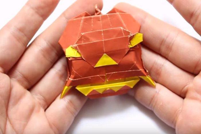 Оригами дьявольская тыква (